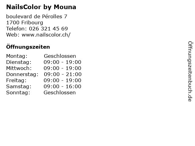 NailsColor by Mouna in Fribourg: Adresse und Öffnungszeiten