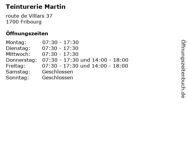 Teinturerie Martin in Fribourg: Adresse und Öffnungszeiten