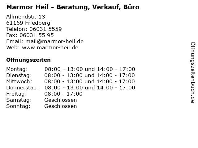 Marmor Heil - Beratung, Verkauf, Büro in Friedberg: Adresse und Öffnungszeiten