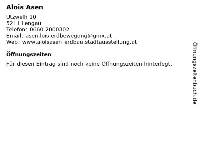 Alois Asen Erdbau in Friedburg: Adresse und Öffnungszeiten