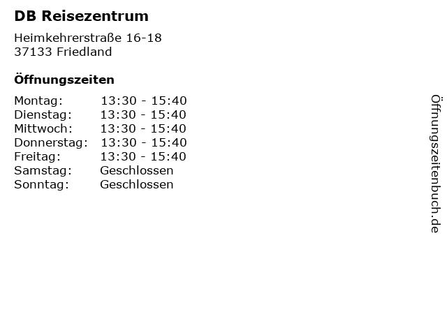 DB Reisezentrum in Friedland: Adresse und Öffnungszeiten