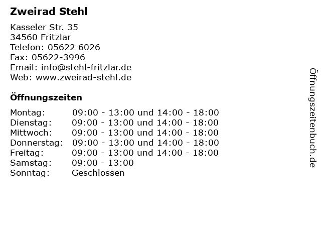 Zweirad Stehl in Fritzlar: Adresse und Öffnungszeiten