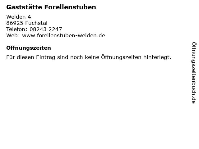 Gaststätte Forellenstuben in Fuchstal: Adresse und Öffnungszeiten