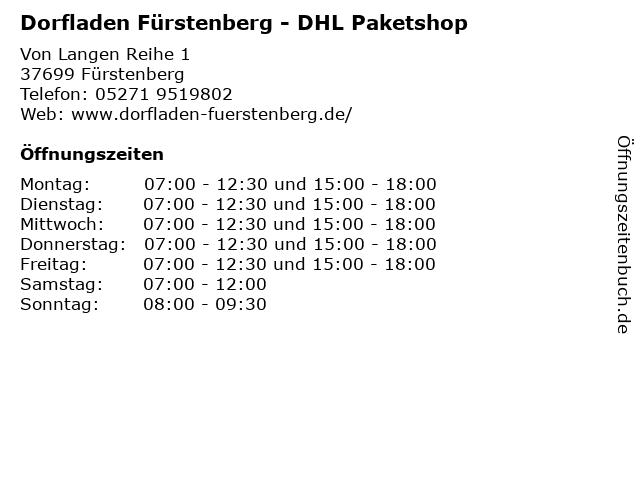 Dorfladen Fürstenberg - DHL Paketshop in Fürstenberg: Adresse und Öffnungszeiten