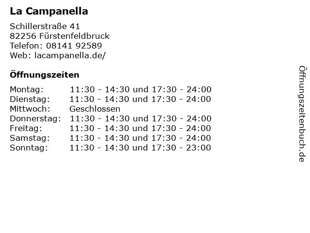 La Campanella in Fürstenfeldbruck: Adresse und Öffnungszeiten