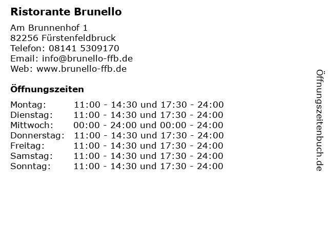Ristorante Brunello in Fürstenfeldbruck: Adresse und Öffnungszeiten