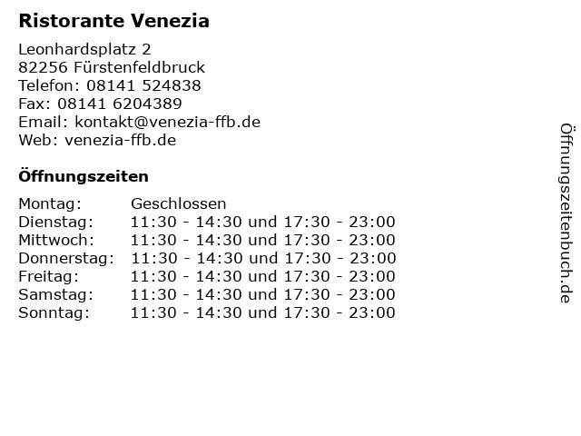Ristorante Venezia in Fürstenfeldbruck: Adresse und Öffnungszeiten