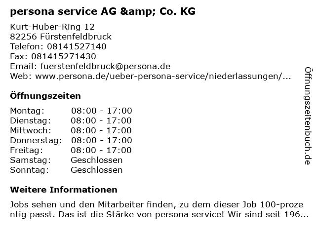 persona service AG & Co. KG in Fürstenfeldbruck: Adresse und Öffnungszeiten