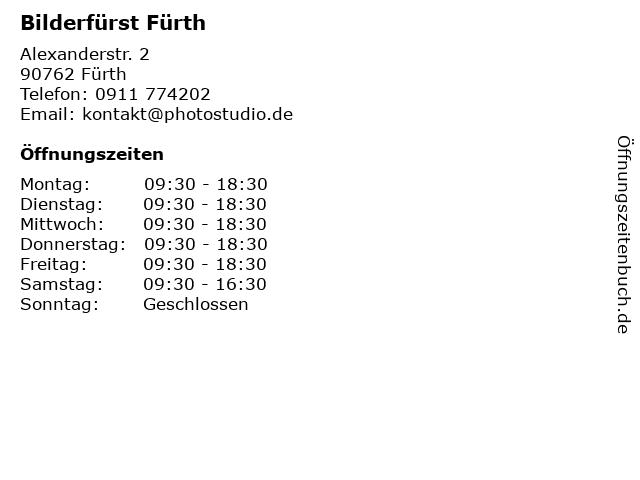 Bilderfürst Fürth in Fürth: Adresse und Öffnungszeiten