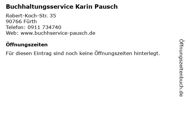 Buchhaltungsservice Karin Pausch in Fürth: Adresse und Öffnungszeiten