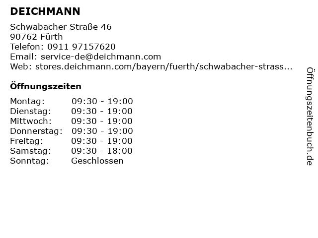 Deichmann in Fürth: Adresse und Öffnungszeiten
