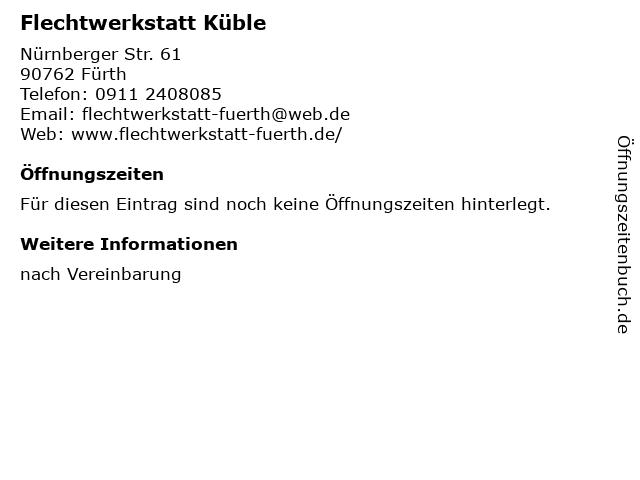 Die Flechterei im Hinterhof - Körbe Kunst Kurse in Fürth: Adresse und Öffnungszeiten