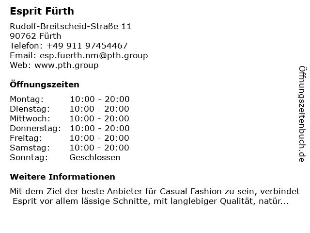 Esprit Fürth in Fürth: Adresse und Öffnungszeiten