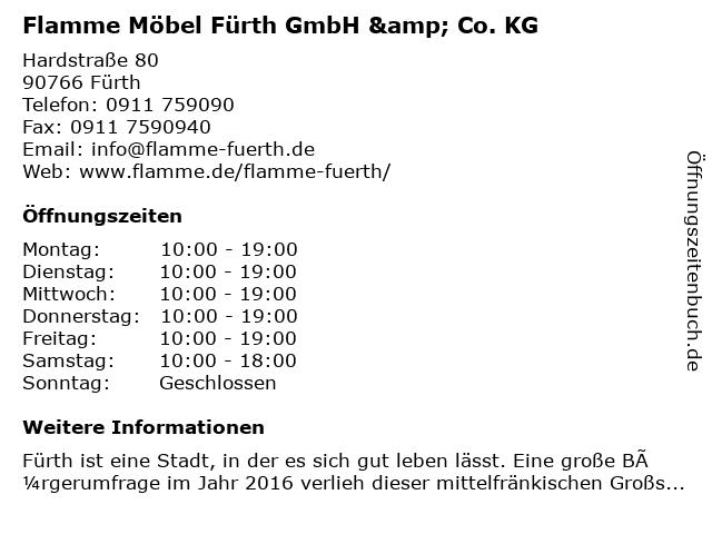 ᐅ öffnungszeiten Flamme Möbel Fürth Gmbh Co Kg Hardstraße 80