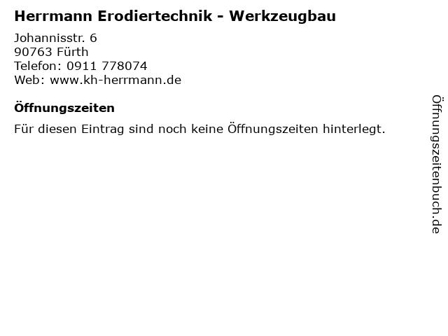 Herrmann Erodiertechnik - Werkzeugbau in Fürth: Adresse und Öffnungszeiten