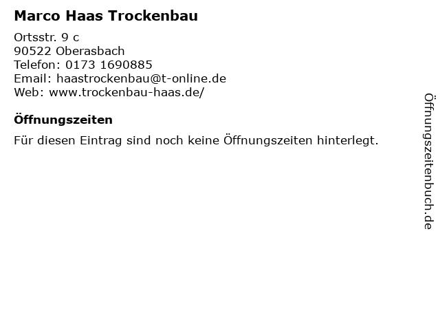 Marco Haas Trockenbau in Fürth: Adresse und Öffnungszeiten