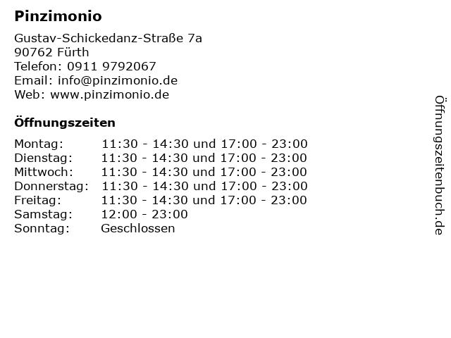 Pinzimonio in Fürth: Adresse und Öffnungszeiten