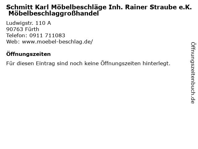 ᐅ Offnungszeiten Schmitt Karl Mobelbeschlage Inh Rainer Straube
