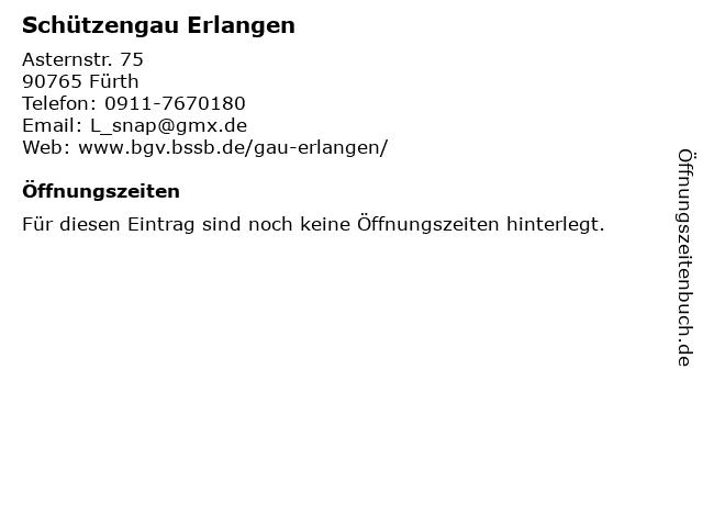 Schützengau Erlangen in Fürth: Adresse und Öffnungszeiten