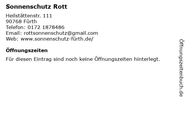 Sonnenschutz Rott in Fürth: Adresse und Öffnungszeiten
