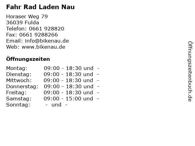 Fahr Rad Laden Nau in Fulda: Adresse und Öffnungszeiten
