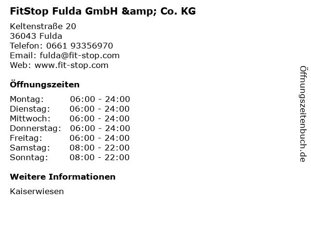 FitStop Fulda GmbH & Co. KG in Fulda: Adresse und Öffnungszeiten