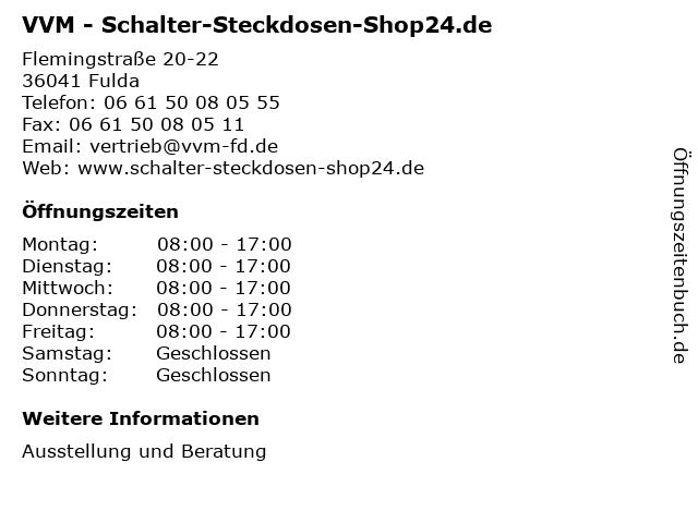 ᐅ öffnungszeiten Vvm Schalter Steckdosen Shop24de