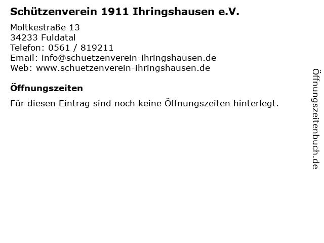 Schützenverein 1911 Ihringshausen e.V. in Fuldatal: Adresse und Öffnungszeiten