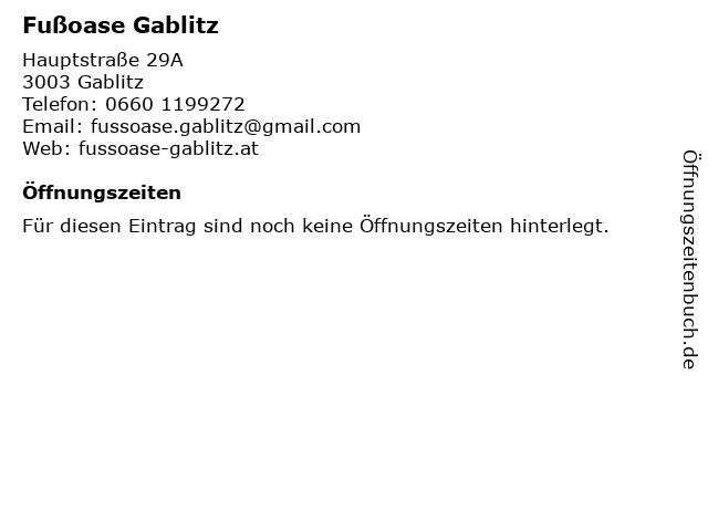 Fußoase Gablitz in Gablitz: Adresse und Öffnungszeiten