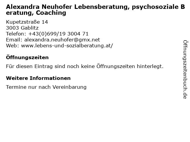 Mediatiorin Alexandra Neuhofer in Gablitz: Adresse und Öffnungszeiten