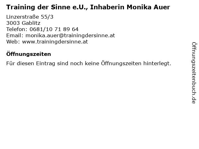 Training der Sinne e.U., Inhaberin Monika Auer in Gablitz: Adresse und Öffnungszeiten