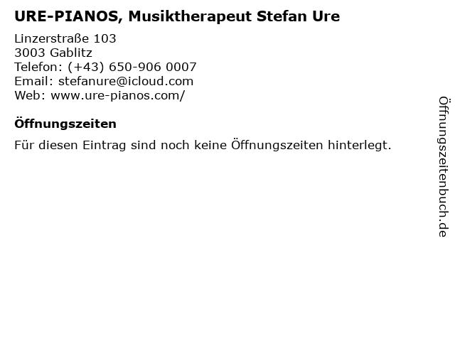 URE-PIANOS, Musiktherapeut Stefan Ure in Gablitz: Adresse und Öffnungszeiten