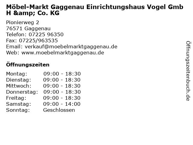 ᐅ öffnungszeiten Möbel Markt Gaggenau Einrichtungshaus Vogel Gmbh