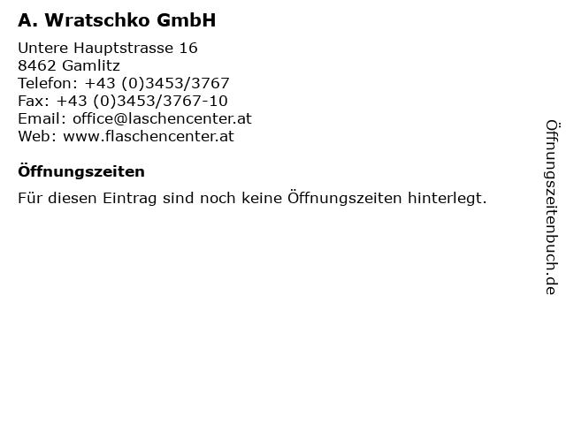 A. Wratschko GmbH in Gamlitz: Adresse und Öffnungszeiten