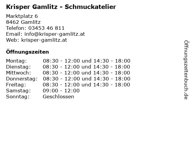 Krisper Gamlitz - Schmuckatelier in Gamlitz: Adresse und Öffnungszeiten