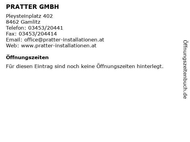 PRATTER GMBH in Gamlitz: Adresse und Öffnungszeiten