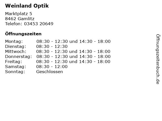 Weinland Optik in Gamlitz: Adresse und Öffnungszeiten