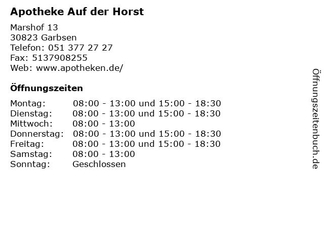 Apotheke Auf der Horst in Garbsen: Adresse und Öffnungszeiten