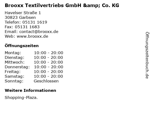 Brooxx Textilvertriebs GmbH & Co. KG in Garbsen: Adresse und Öffnungszeiten