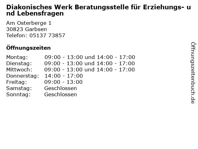 Diakonisches Werk Beratungsstelle für Erziehungs- und Lebensfragen in Garbsen: Adresse und Öffnungszeiten