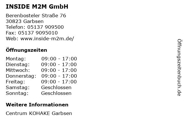 INSIDE M2M GmbH in Garbsen: Adresse und Öffnungszeiten