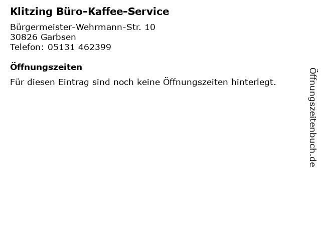 ᐅ Offnungszeiten Klitzing Buro Kaffee Service Burgermeister
