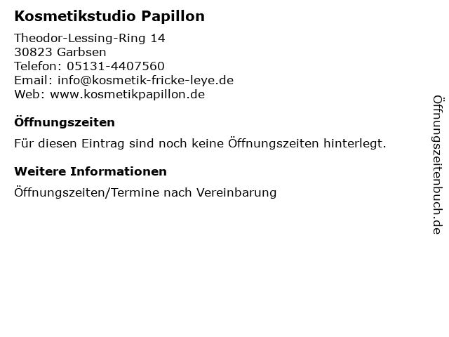 Kosmetikstudio Papillon in Garbsen: Adresse und Öffnungszeiten