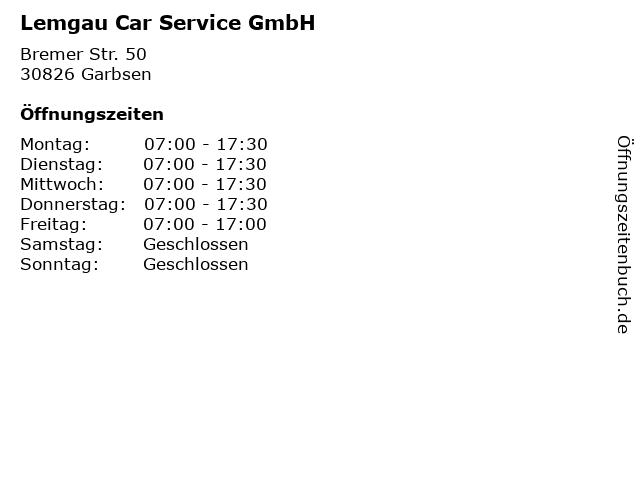 Lemgau Car Service GmbH in Garbsen: Adresse und Öffnungszeiten