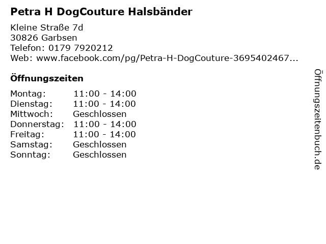 Petra H DogCouture Halsbänder in Garbsen: Adresse und Öffnungszeiten