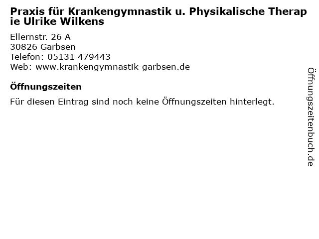 Praxis für Krankengymnastik u. Physikalische Therapie Ulrike Wilkens in Garbsen: Adresse und Öffnungszeiten