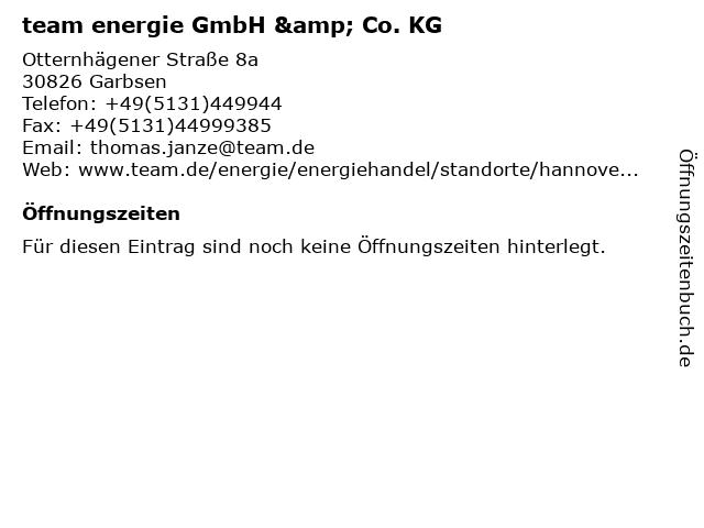 team energie GmbH & Co. KG in Garbsen: Adresse und Öffnungszeiten