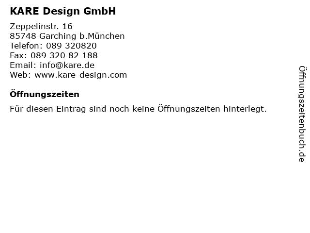 ᐅ öffnungszeiten Kare Design Gmbh Zeppelinstr 16 In Garching B
