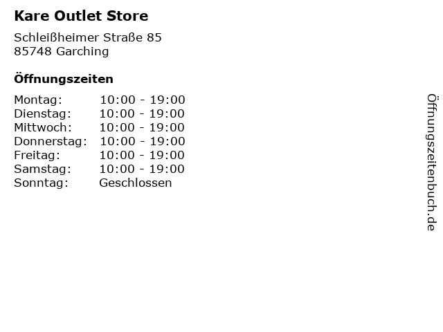 ᐅ öffnungszeiten Kare Outlet Store Schleißheimer Straße 85 In