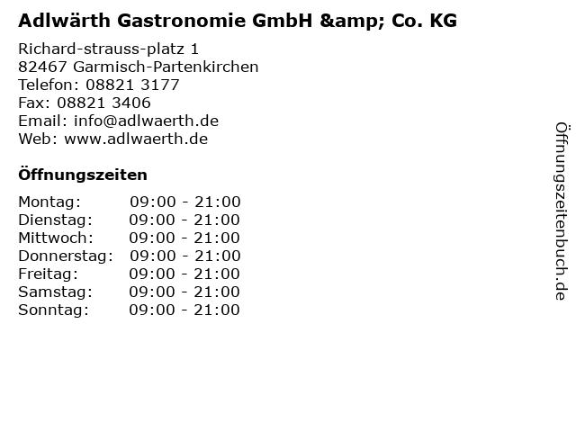 Adlwärth Gastronomie GmbH & Co. KG in Garmisch-Partenkirchen: Adresse und Öffnungszeiten